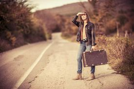 Woman embarking on a journey