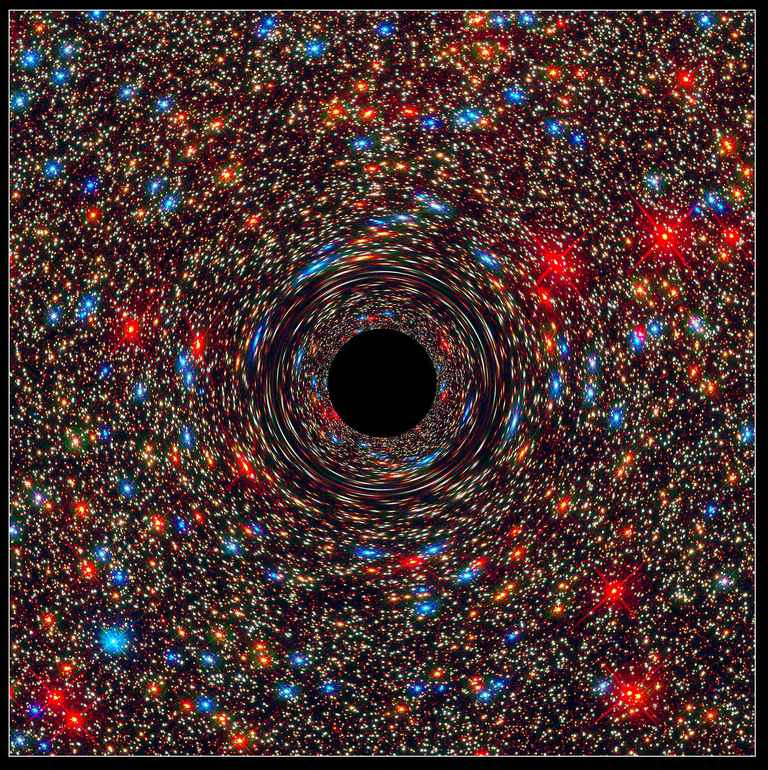 computer simulation of a supermassive black hole