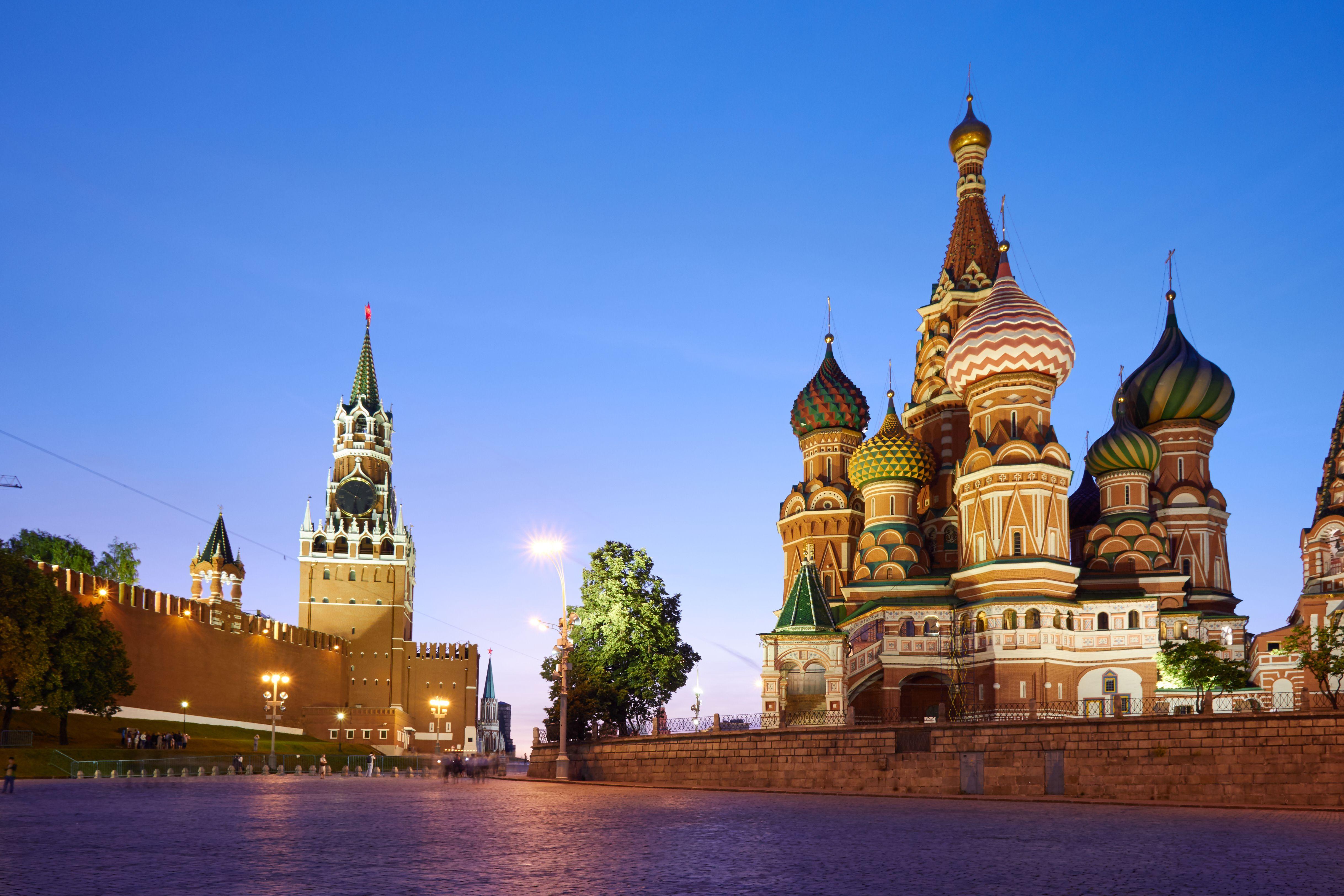 Piazza Rossa di Mosca al tramonto