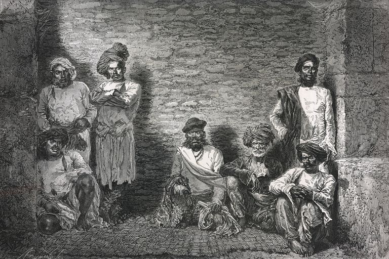 Stranglers from the Thuggee sect in Aurangabad prison, 1873