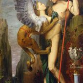 Oedipus and the Sphinx, by Gustave Moreau (1864)