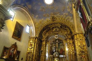 The Capilla de Cantuña chapel in Quito, Ecuador