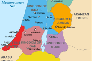 Map showing ancient kingdoms of the Levant circa 830