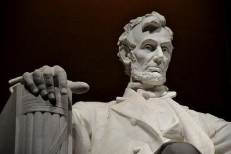 Statue of Lincoln from the Lincoln Memorial