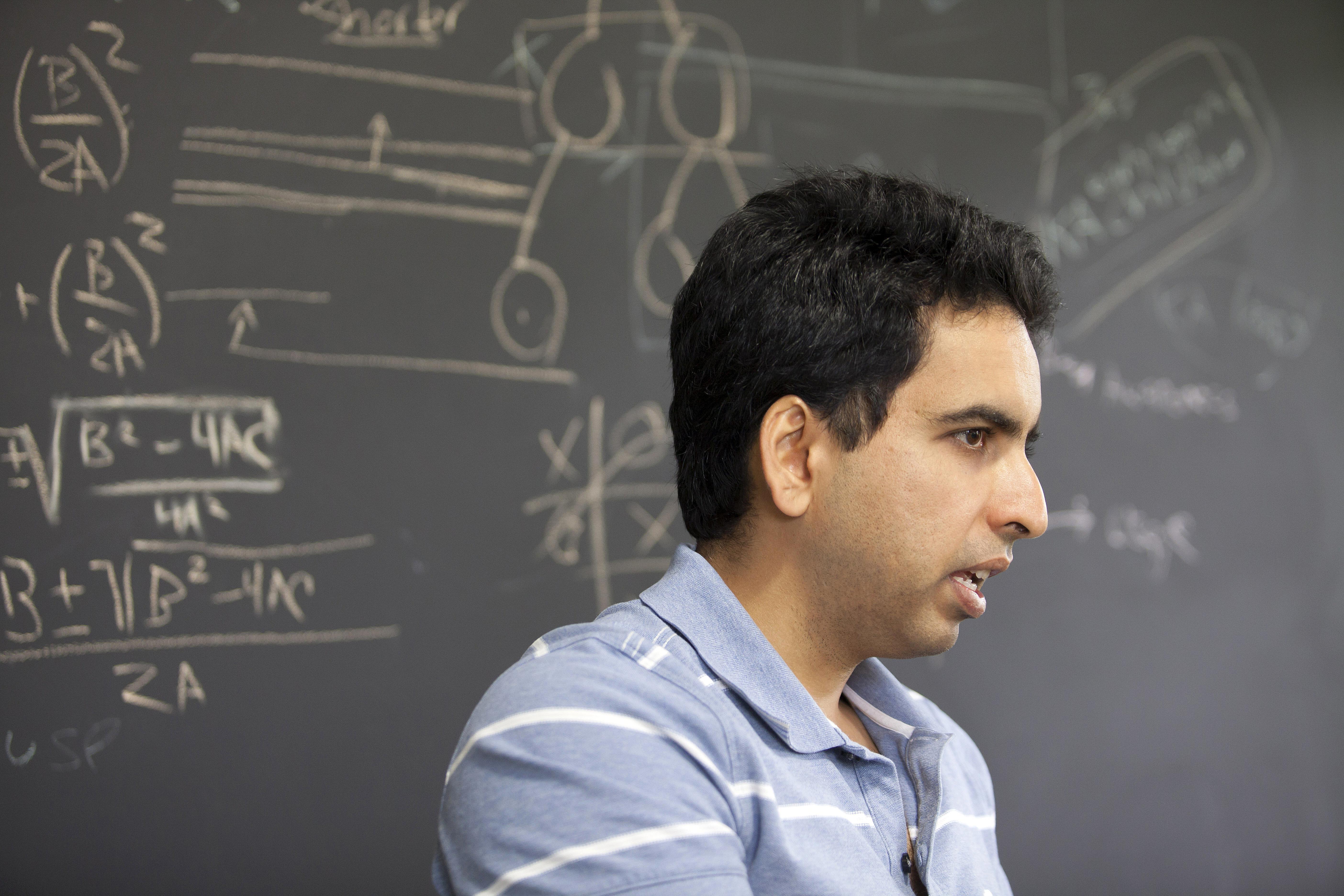 Portrait of Salman Khan, the founder of the Khan Academy