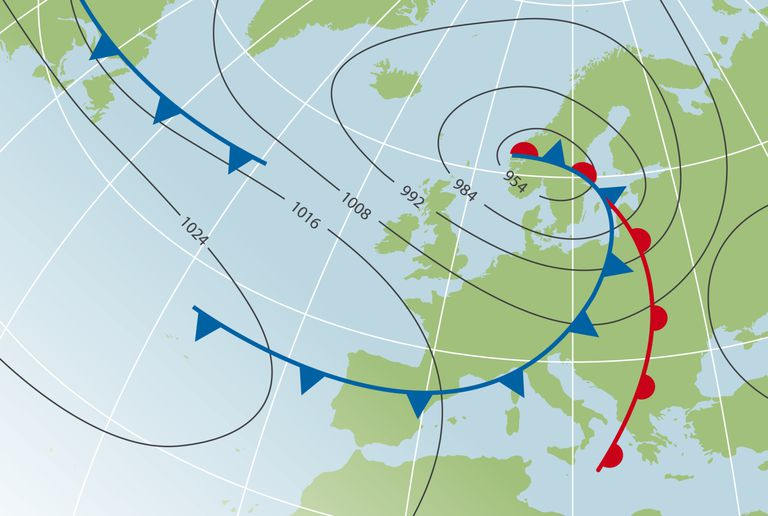 map of atmospheric motion