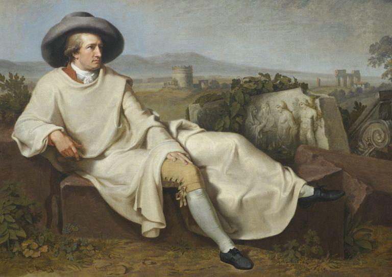 Painting of Johann Wolfgang von Goethe, Staedelmuseum, Frankfurt, Hesse, Germany