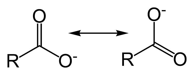 The formula for the carboxylate functional group is RCOO−.
