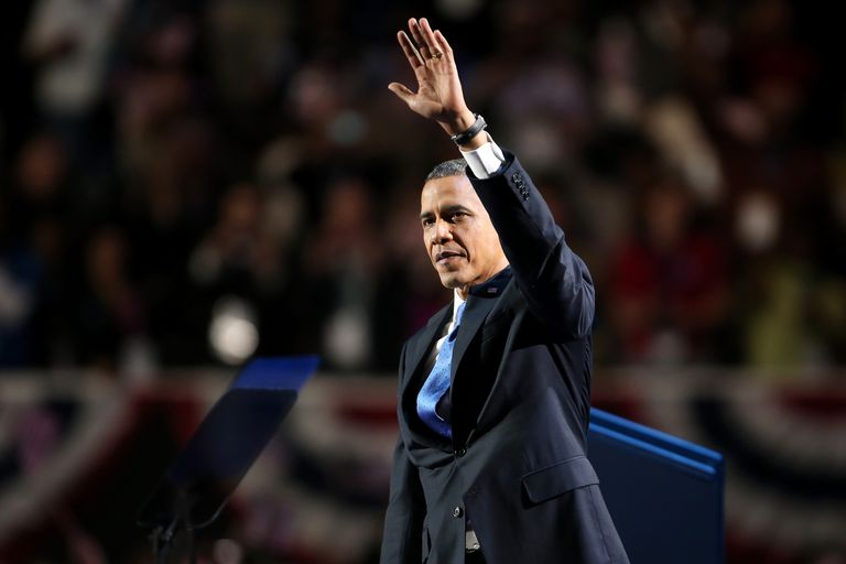 President Barack Obama wins the 2012 presidential election