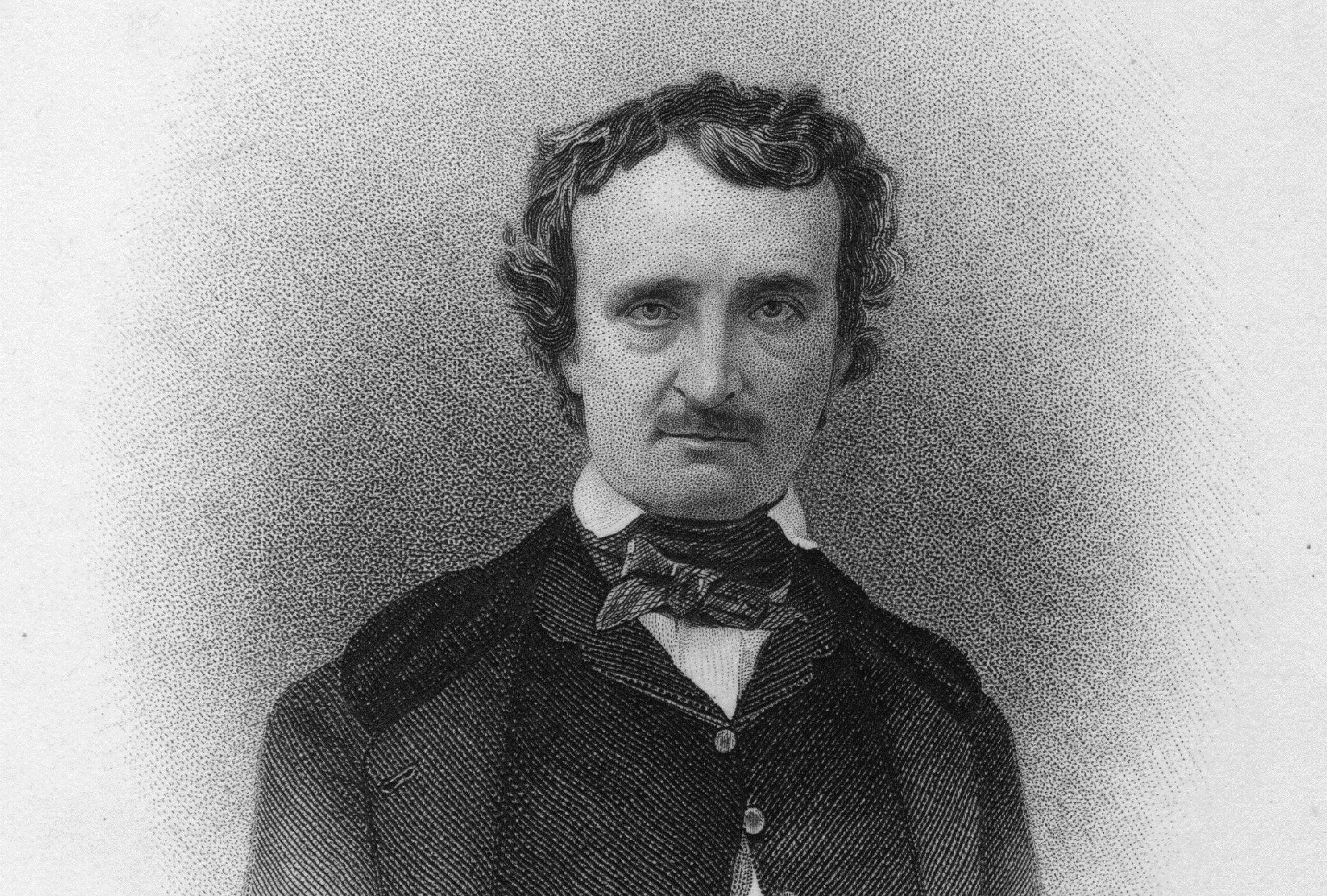 Engraved portrait of Edgar Allan Poe