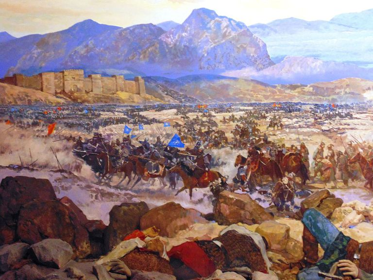 Battle of Manzikert. Diorama at the Istanbul Military Museum