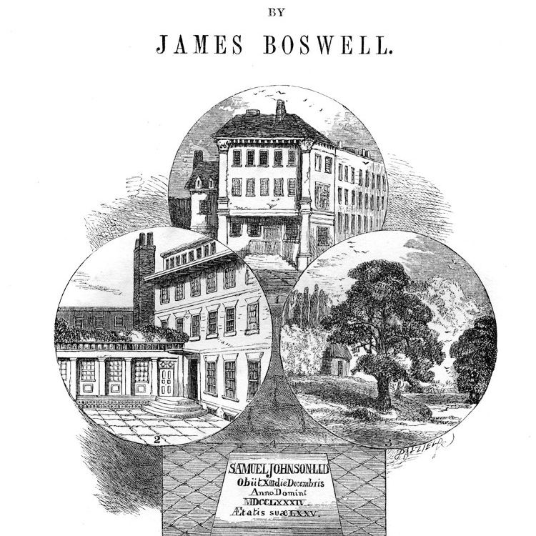 Titlepage of 'The Life of Samuel Johnson, LLD' by James Boswell.