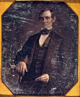 Abraham Lincoln in early daguerreotype