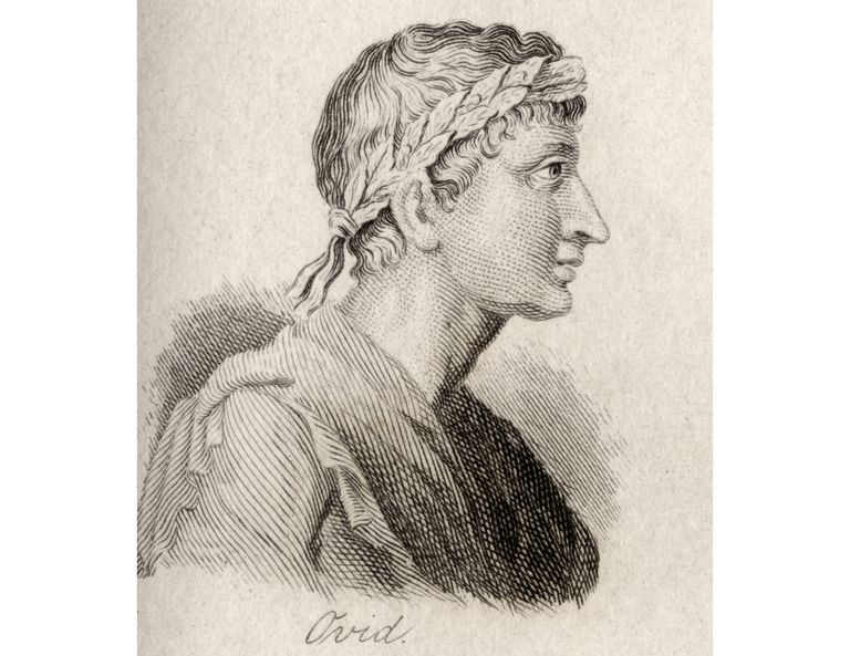 Illustration of the Latin Poet Ovid
