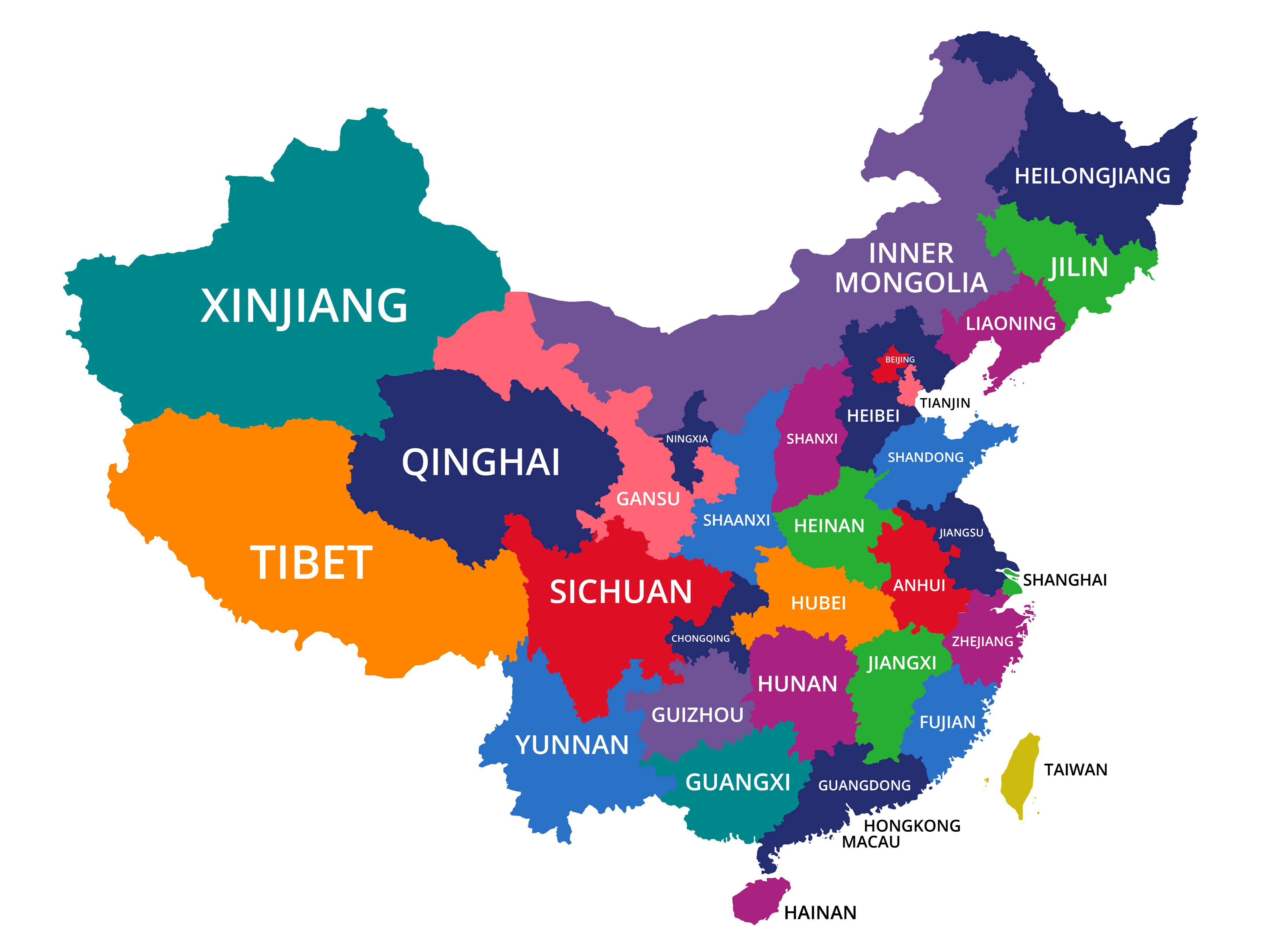 beijing in china map The 23 Provinces In The Country Of China beijing in china map