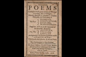 Title page of Bradstreet's poems, 1678