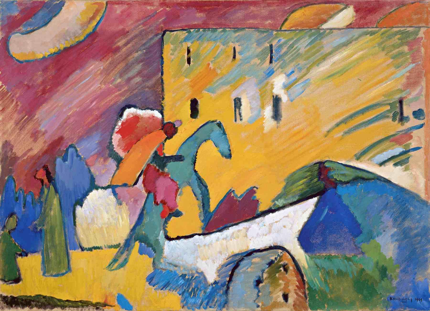 Wassily Kandinsky (Russian, 1866-1944) Wassily Kandinsky (Russian, 1866-1944). Improvisation 3, 1909. Oil on canvas. 37 x 51 1/8 in. (94 x 130 cm). Gift of Nina Kandinsky, 1976. Musée national d'art moderne, Centre Pompidou, Paris.