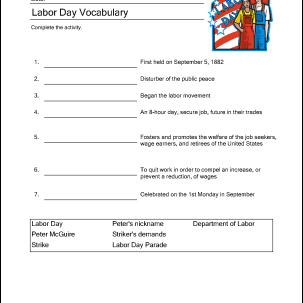 This is a photo of Peaceful Labor Day Word Search Printable