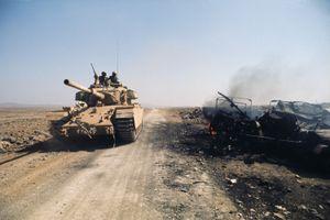 Israeli tank on the Golan Heights, October 1973.