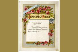 Victorian temperance pledge certificate