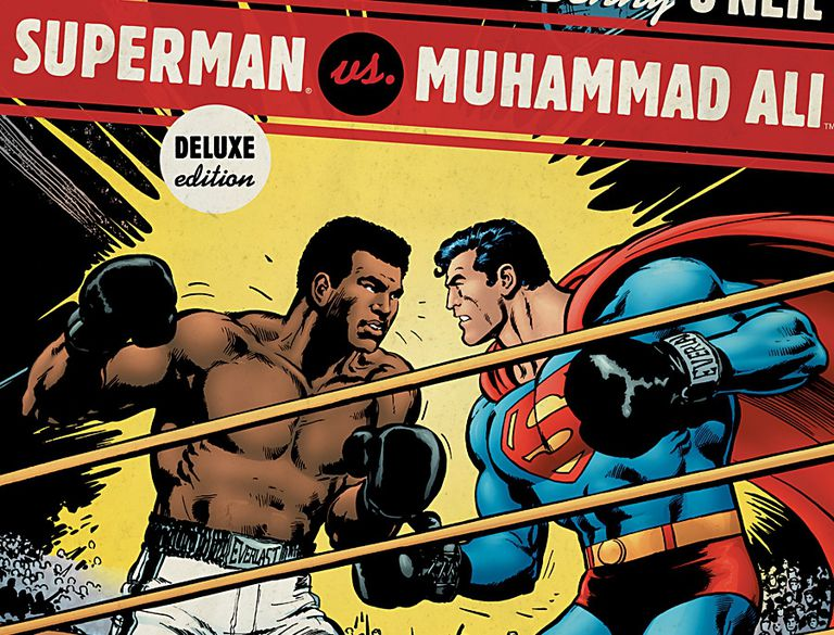 Comic cover of Superman vs. Muhammad Ali
