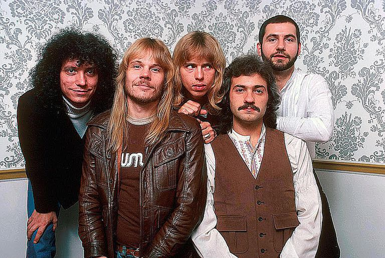Styx, from left to right: John Panazzo, James Young, Tommy Shaw, Dennis De Young, Chuck Panazzo.