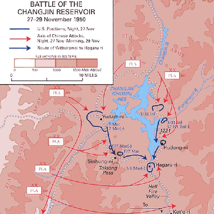 Chosin Reservoir Map