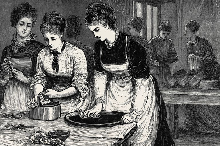 Morning, In The Scullery, 1874 Engraving, National Training School Of Cookery At South Kensington