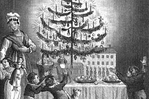 Christmas tree in 1836