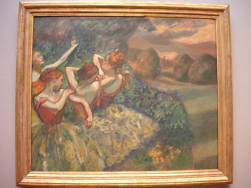 """Four Dancers"" - Edgar Degas"