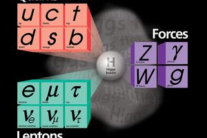 This represents the Standard model of elementary particles
