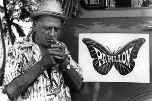 Henri Charrière on the set of the 1973 film Papillon.