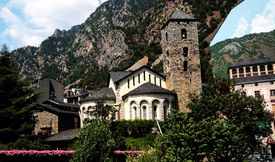 Church in Andorra on a sunny day.