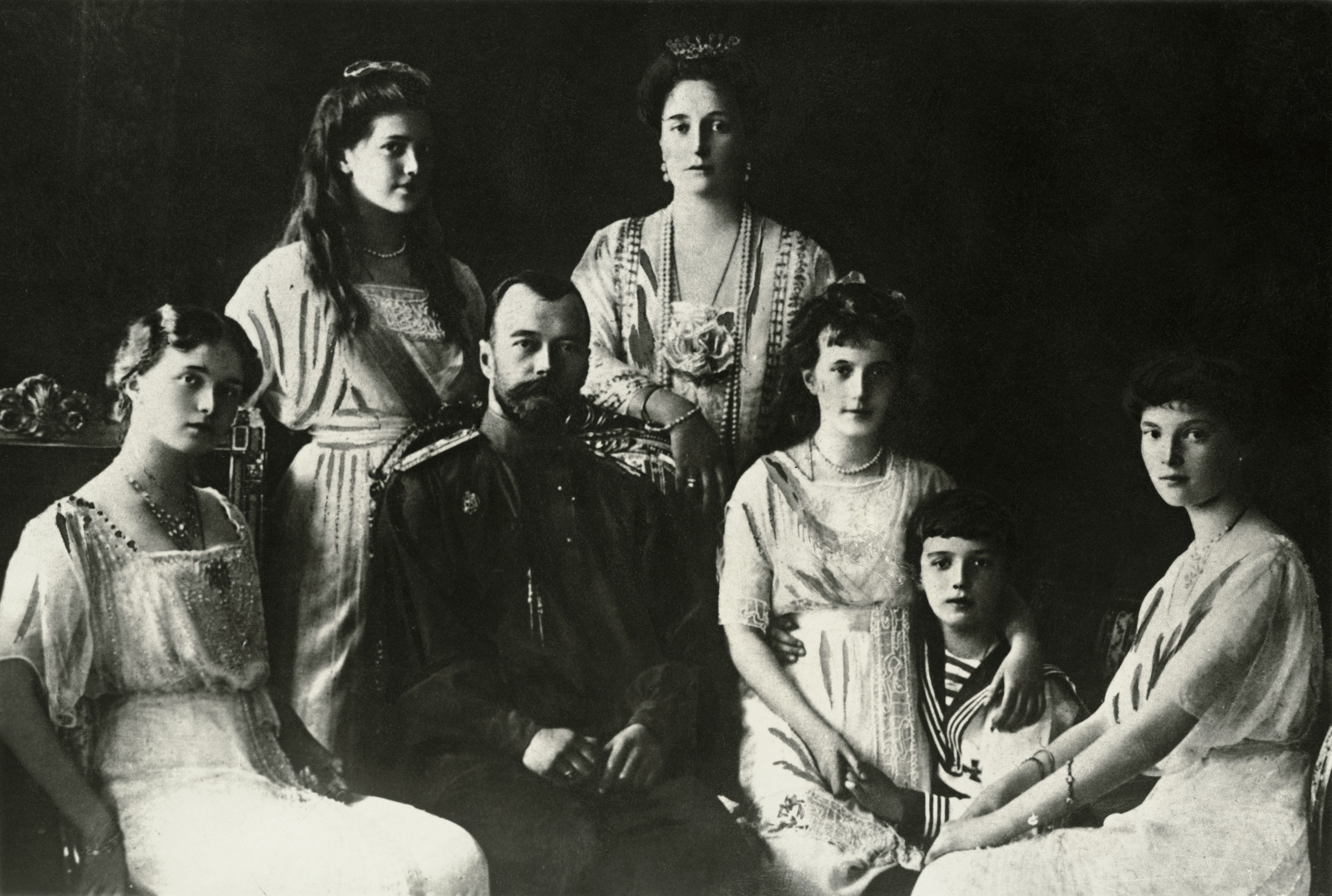 A picture of Czar Nicholas II and his family.