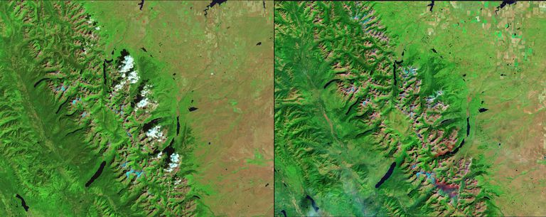 glacier national park shows climate change effects