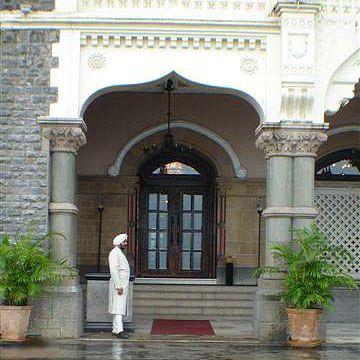 Entrance to the Taj Mahal Palace Hotel in Mumbai, India