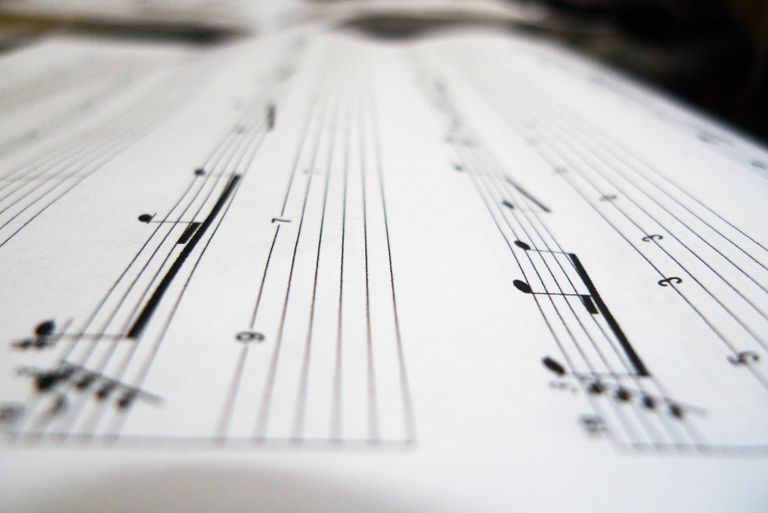 A close up shot of a musical sheet
