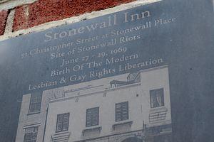 Stonewall Inn plaque