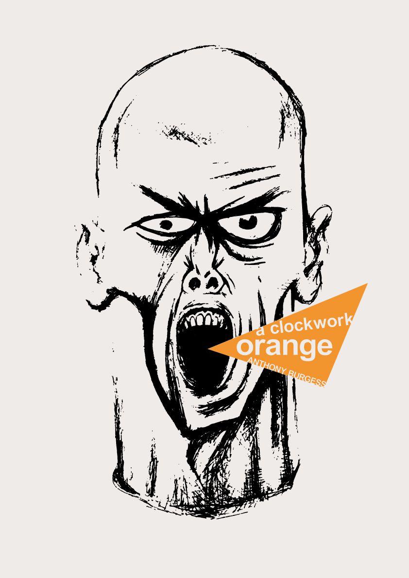 """A Clockwork Orange"" book cover art."