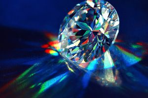 Carbon when it occurs in the form of a diamond.