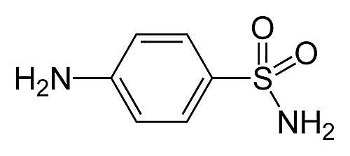 Esta es la estructura química de la sulfanilamida.