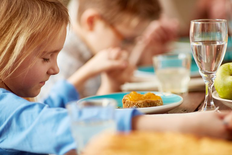 Children's dinner prayer