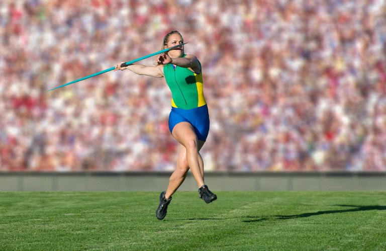 Athlete throwing javelin