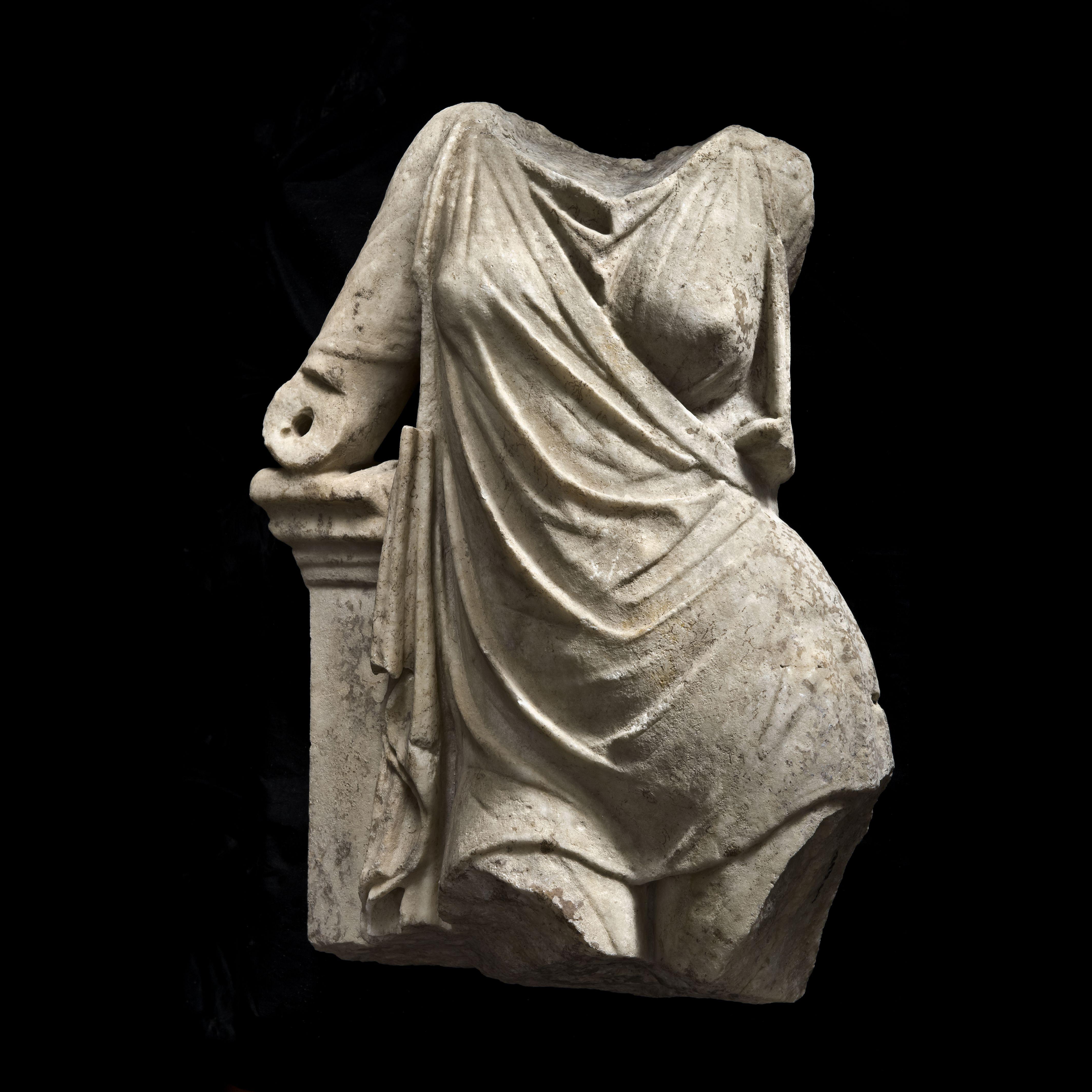 Female Torso with Chiton, 1st Century b.C., marble