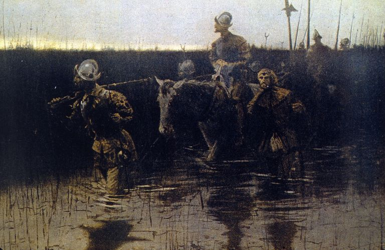 De Soto in America, by Frederic Remington
