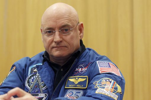 Astronauts Scott Kelly And Mikhail Kornienko Give A Press Confence At UNESCO in Paris