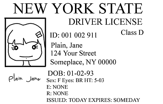 Facebook image of a driver's license