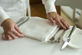 waiter setting table