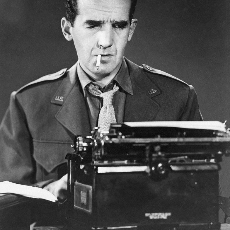 Edward R. Murrow at a Typewriter
