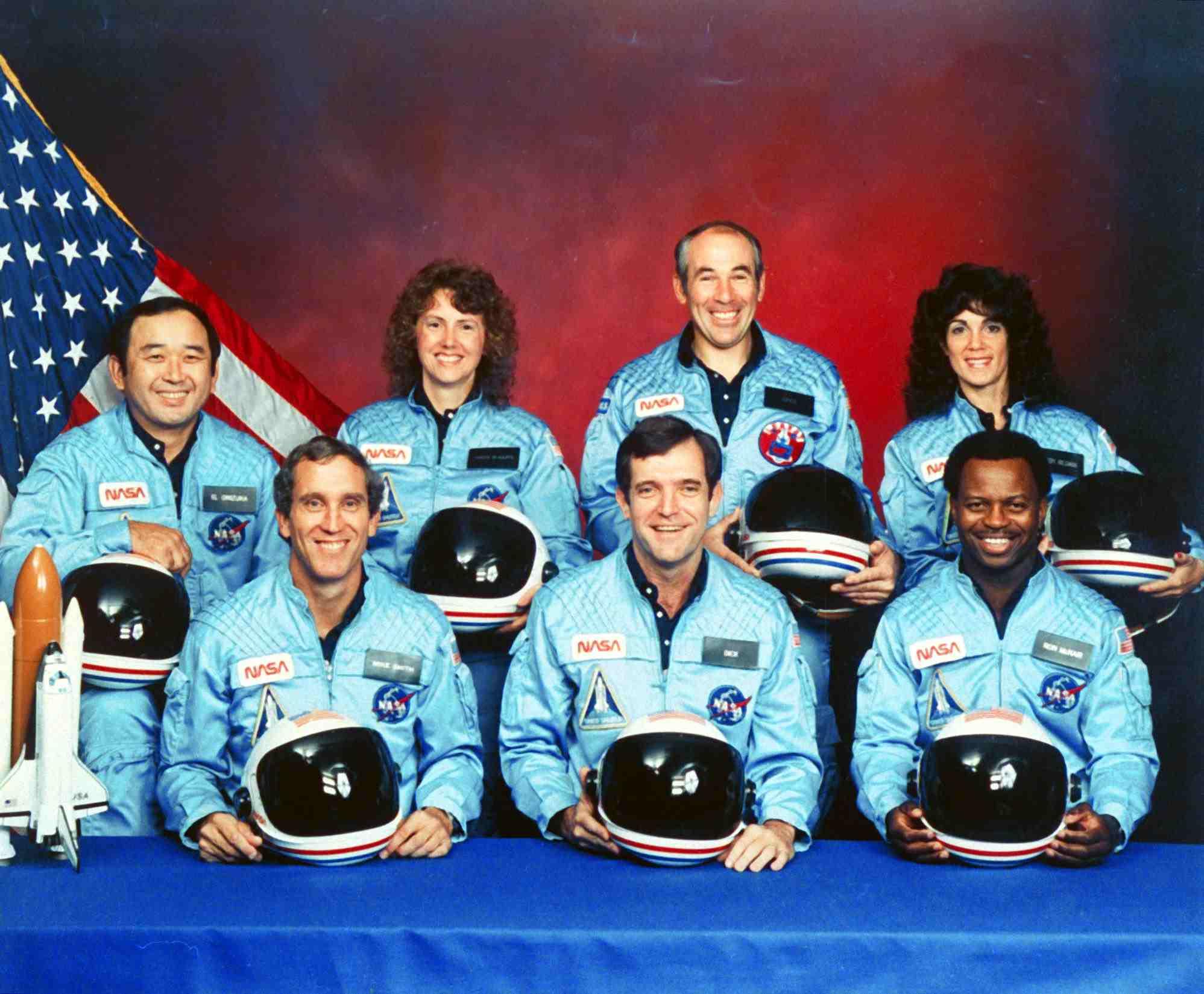 Sharon Christa Mcauliffe;Ronald E. Mcnair;Gregory Jarvis;Ellison Onizuka;Michael J. Smith;Francis R. Scobee;Judith A. Resnik